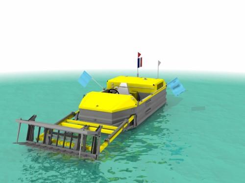 Barco para Remoção de Vegetação Aquática